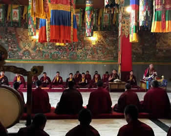 Ceremony at Mindrolling Monastery